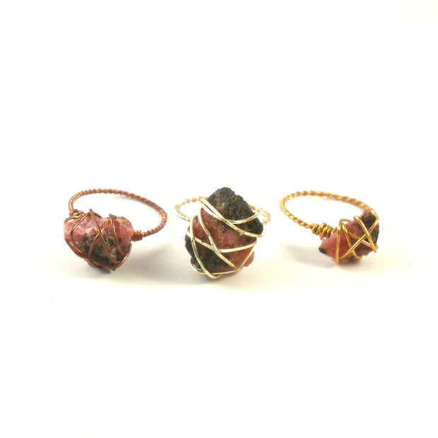 Stoner Ring - Rhodonite