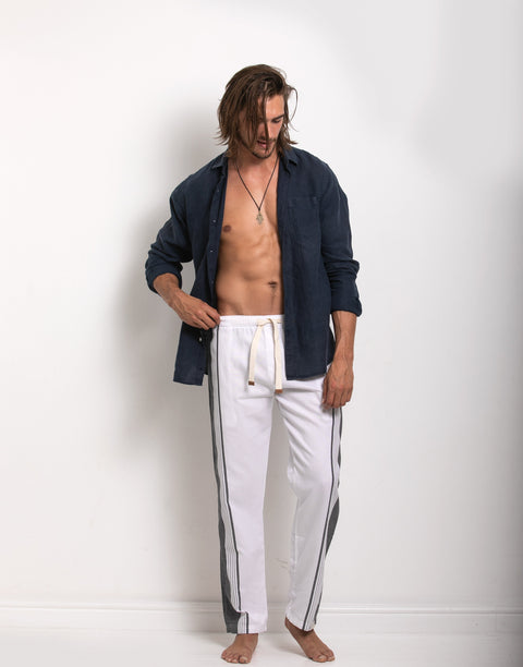 Trousers - White & Grey