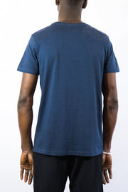 SA LINES EMBROIDERY T NAVY
