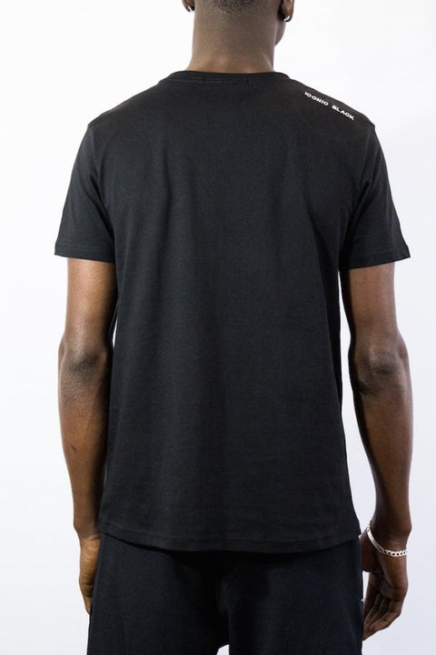 SA LINES EMBROIDERY T BLACK