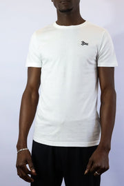 SA LINES EMBROIDERY T WHITE