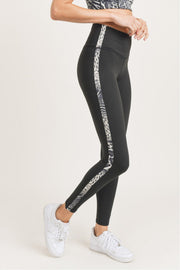 Animal Stripe High-Waist Leggings