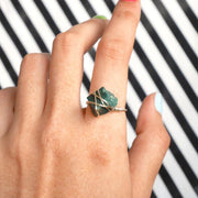Stoner Ring - Green Quartz