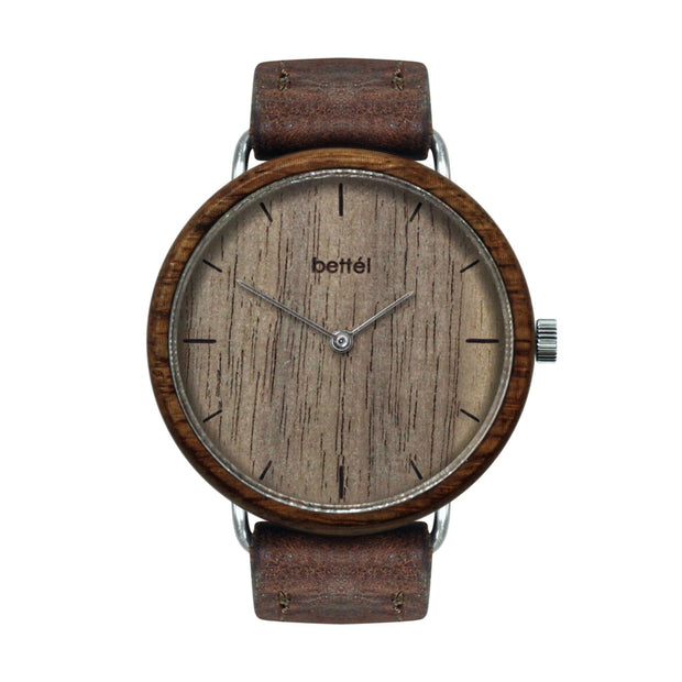 The Acorn Walnut - Brown Strap