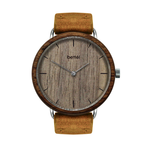 The Acorn Walnut - Tan Strap