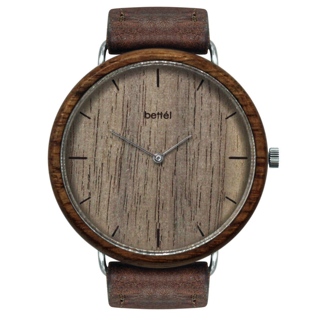 The Albatross Walnut - Brown Strap