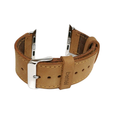 Bettel Genuine Leather Strap for 38/40mm Apple Watch - Tan