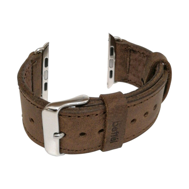 Bettel Genuine Leather Strap for 42/44mm Apple Watch - Brown