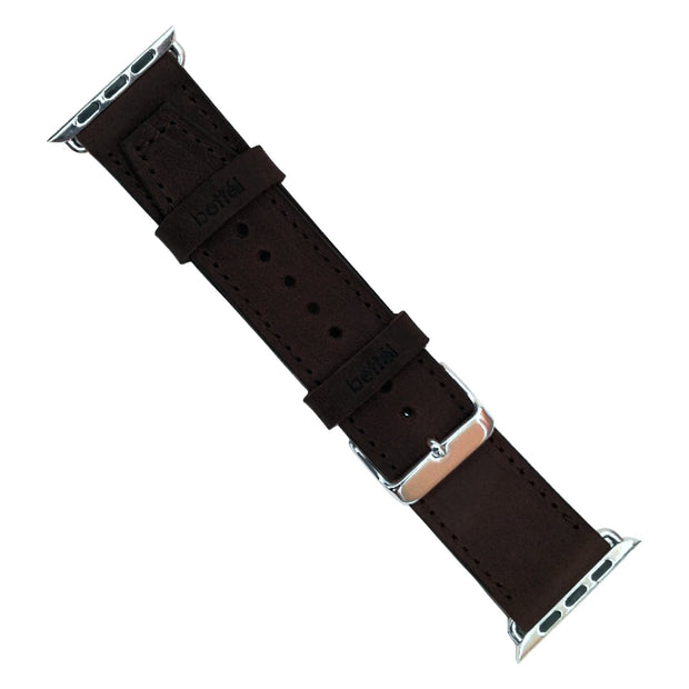 Bettel Genuine Leather Strap for 42/44mm Apple Watch - Black