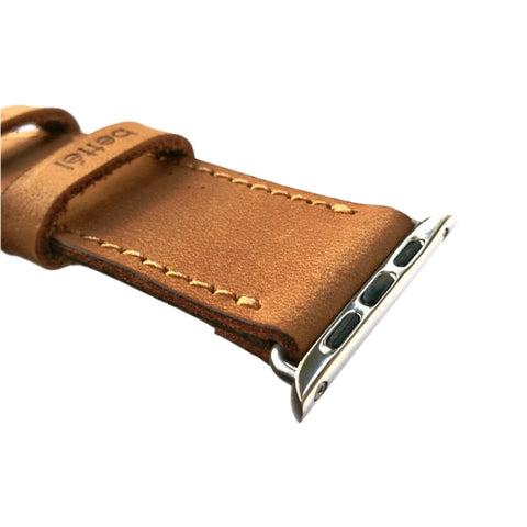 Bettel Genuine Leather Strap for 42/44mm Apple Watch - Tan