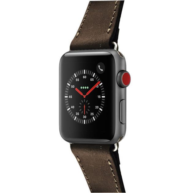 Bettel Genuine Leather Strap for 38/40mm Apple Watch - Brown