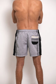 Black & Grey Mens Hipster Shorts