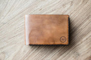 Leather Bi-Fold Wallet Light Brown