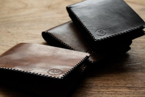 Leather Bi-Fold Wallet Black