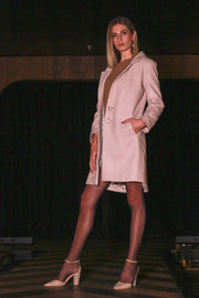 Dusty Pink Tailored Trench Coat