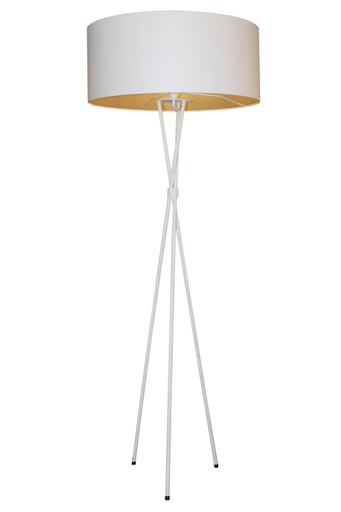 Tripod M/Steel Floor Lamp - White