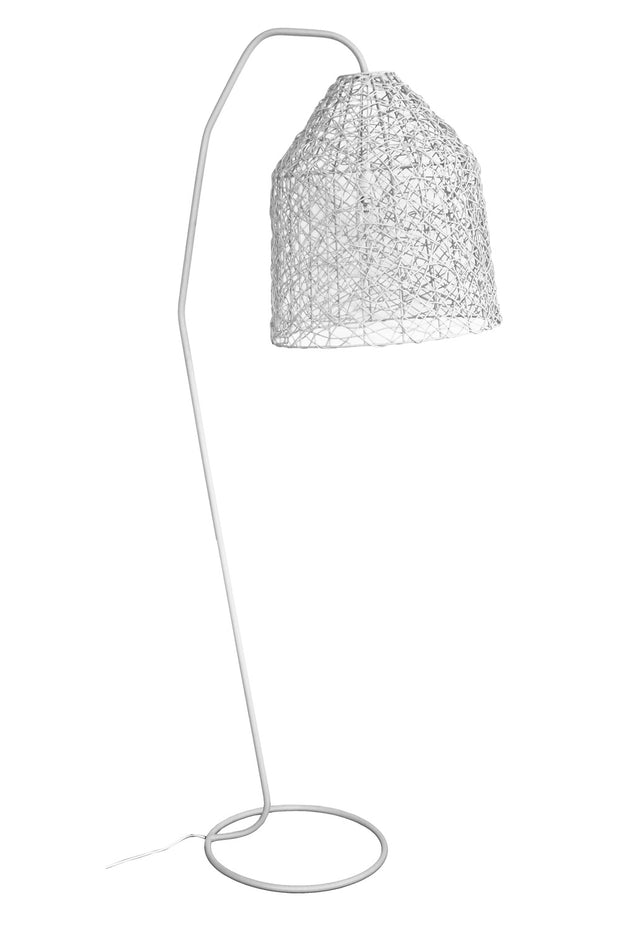 Question Arc Floor Lamp - White