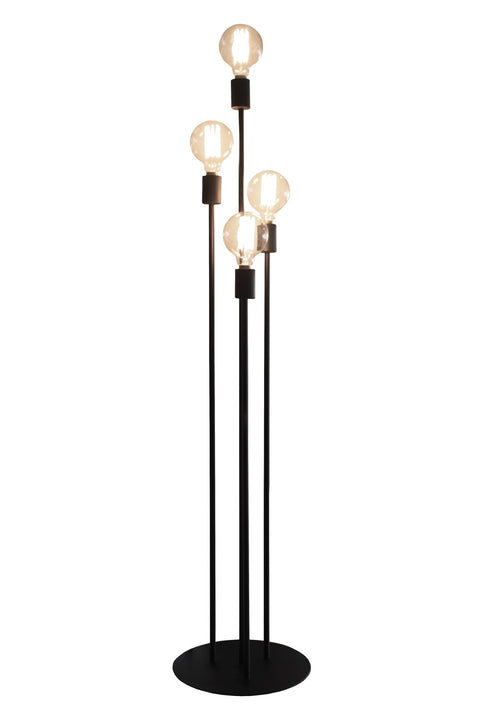 Atom Floor Lamp - Sandpaper Black