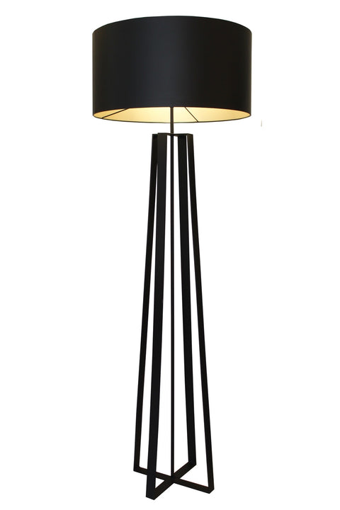 Quad Floor Lamp - Sandpaper Black