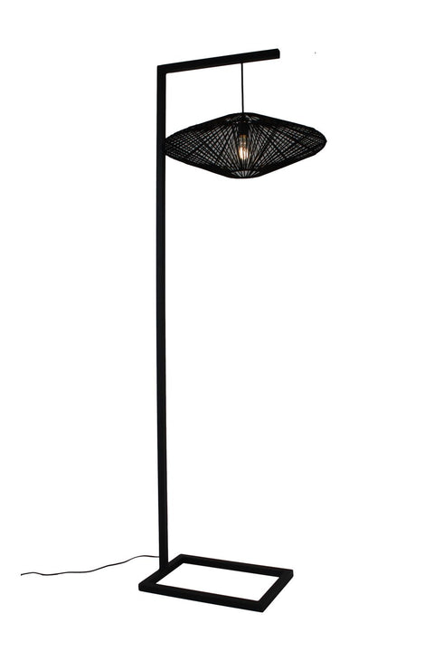 UFO Floor Lamp - Sandpaper Black
