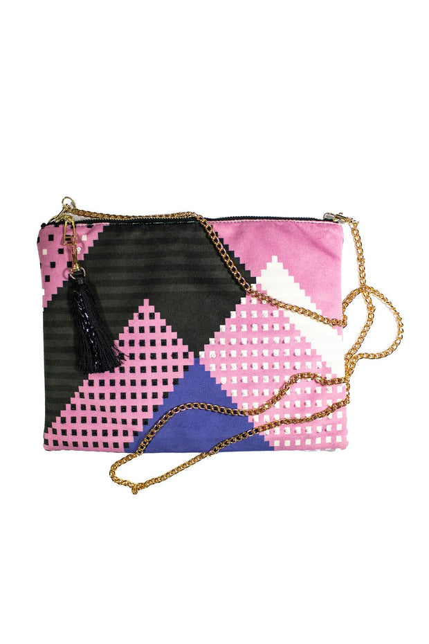 Faatimah Mohamed-Luke Pyramids & Striped Back Clutch