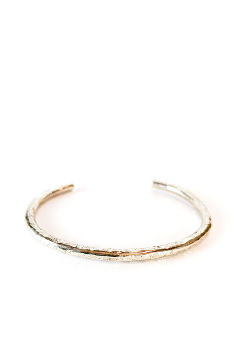 Signature Hammered Silver Cuff