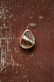 Brown Butterfly Pendant with Hemp String