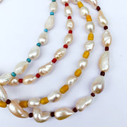 African Beaded Pearl Necklace