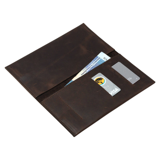 The Jack of All Trades Genuine Leather Phone Wallet - Brown