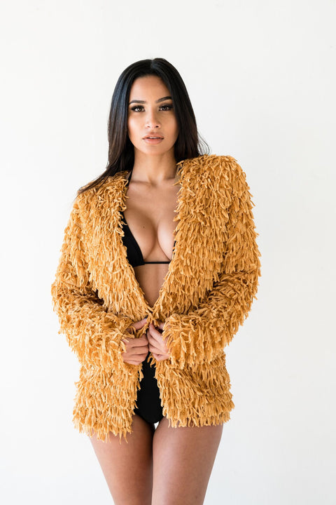 Shaggy Mustard Jacket