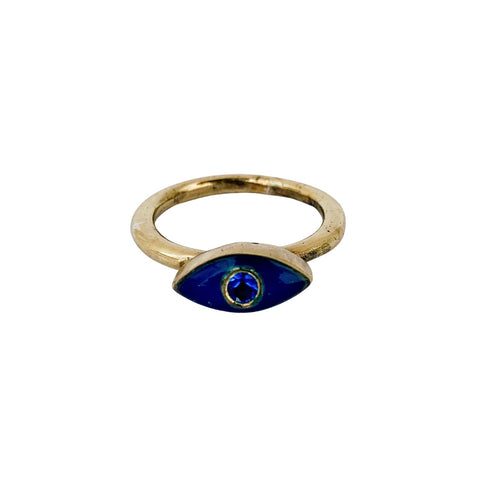 Blue Protective Evil Eye Ring