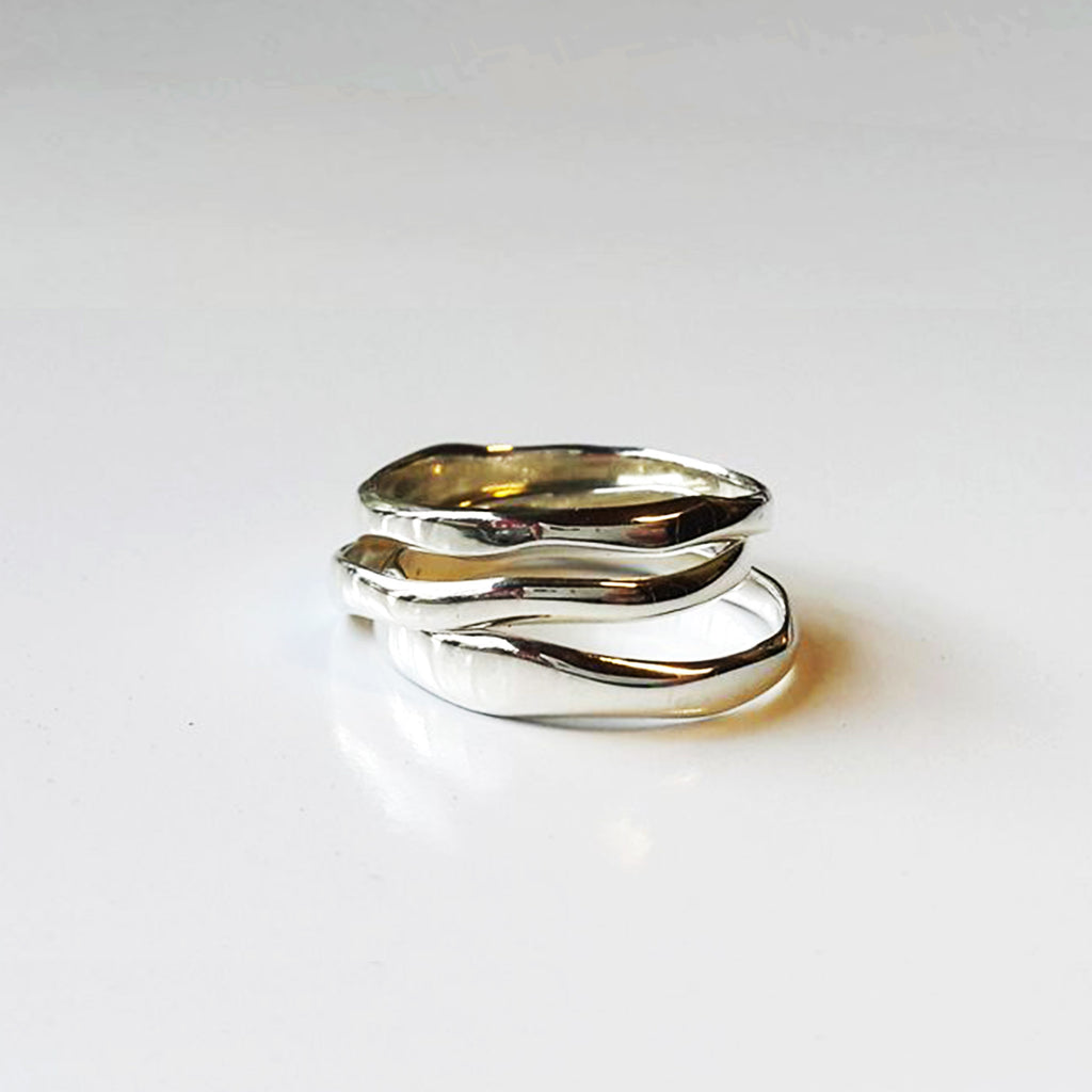 Silver Curve Stacking Ring