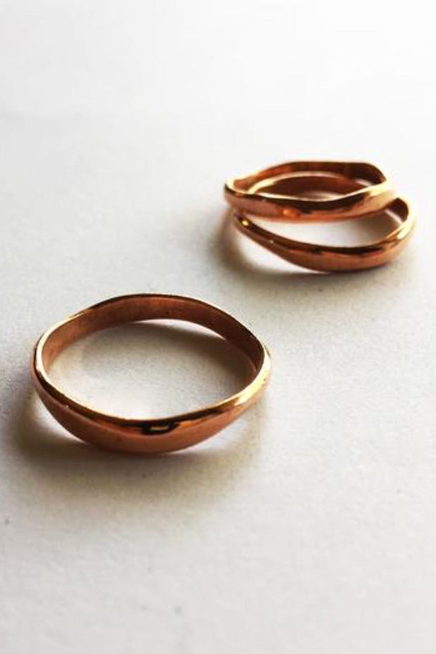 Curve Stack Ring Copper