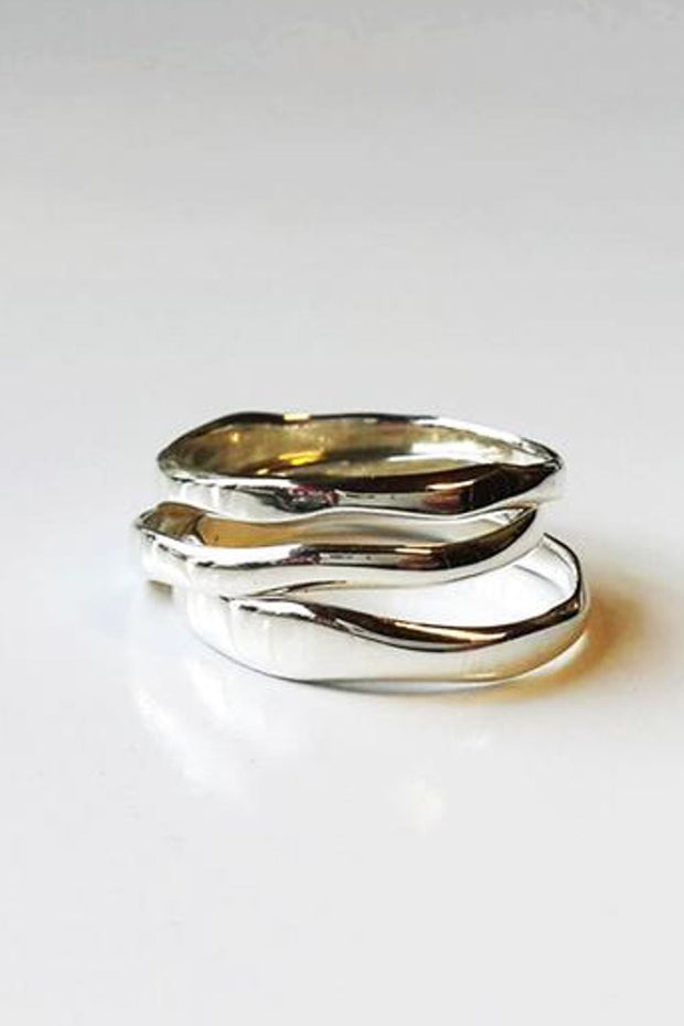 Curve Stack Ring Silver