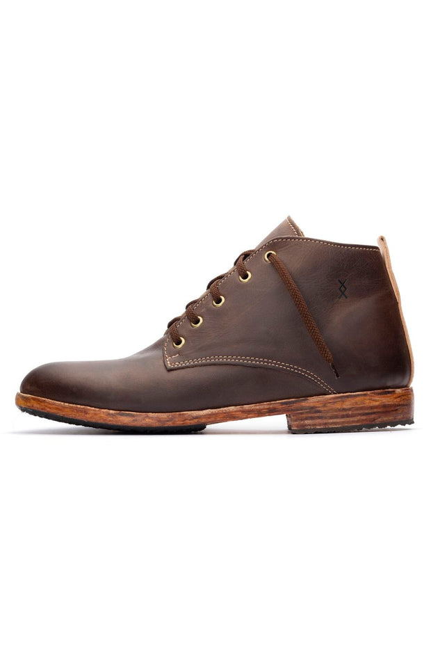 BROWN MIDTOP SHOES