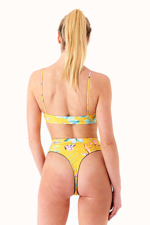 THE REVERSIBLE BOOGIE BOTTOMS MUSTARD FOREST/IVY MOSS