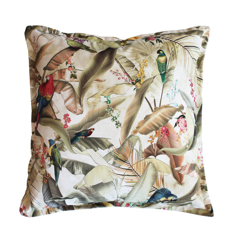 Macaw Parchment Scatter Cushion Cover