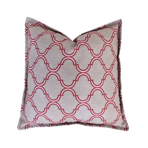 Tile Mauve Scatter Cushion Cover
