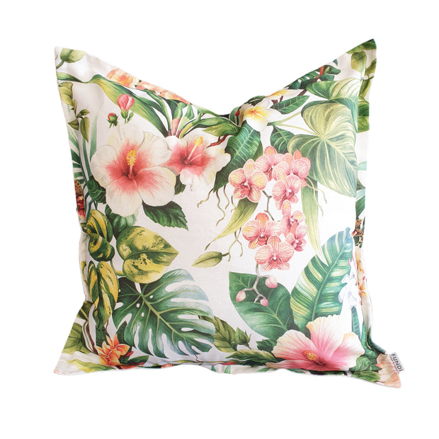 Hibiscus Coral Scatter Cushion Cover