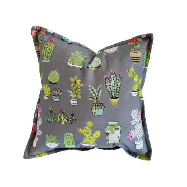 Potting About Charcoal Scatter Cushion Cover