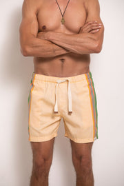 Sandy Yellow Mens Hipster Shorts