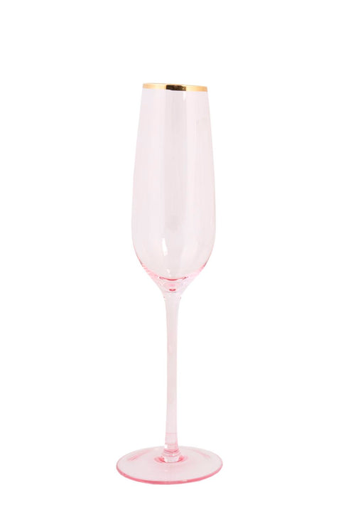 Pink Shanghai Champagne Flute 4pc set