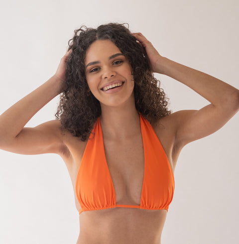Zinnia top in Coral (ECONYL®)