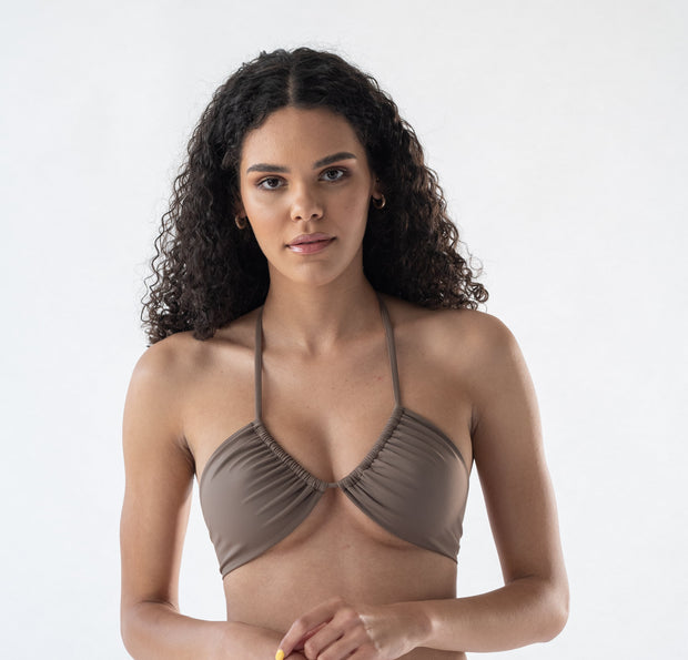 Zinnia top in Mocha (ECONYL®)