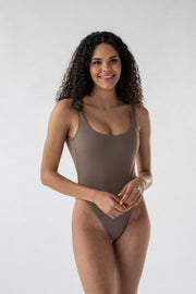 Aster swimsuit in Mocha (ECONYL®)