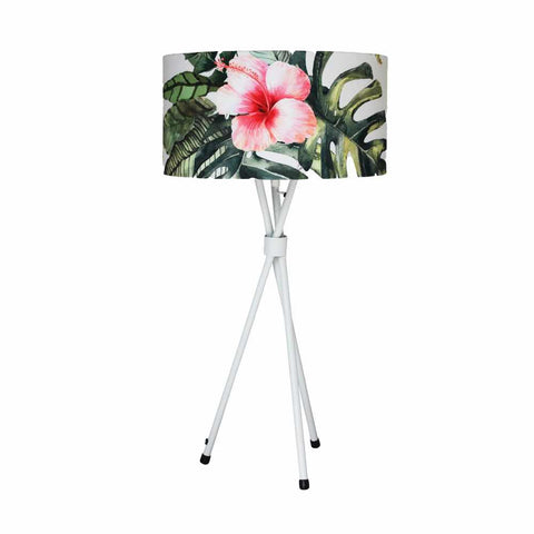 Tripod Mild Steel Table Lamp - Sandpaper White