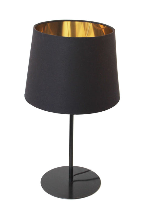Metal Upright Table Lamp - Black