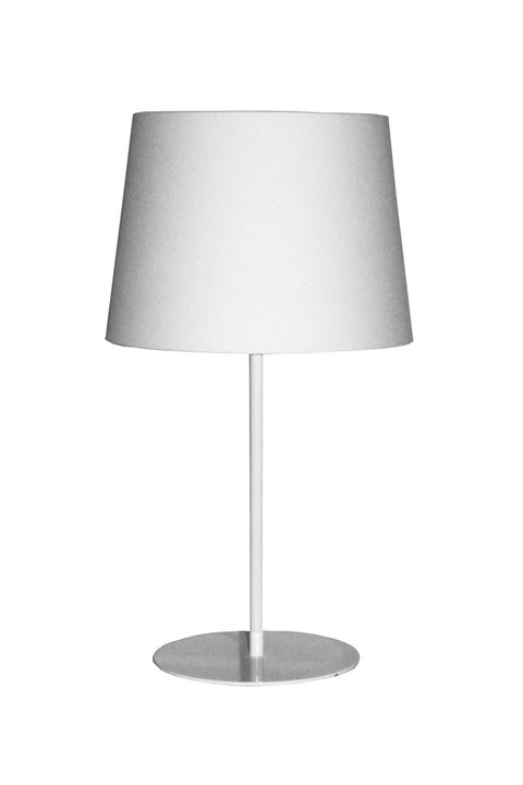 Metal Upright Table Lamp - White