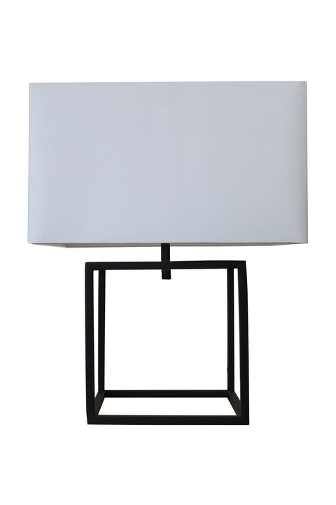 Cube Table Lamp - Sandpaper Black