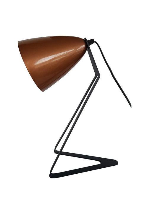 Desk Lamp - Charcoal & Copper